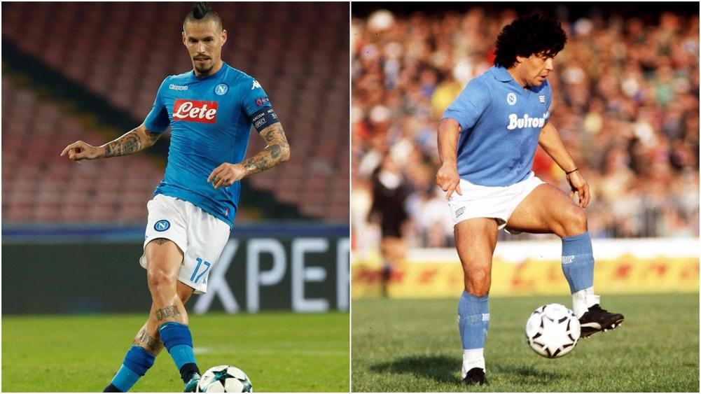 Hamsik Ties Maradona For Napoli's All-Time Goals Record