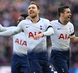 Tottenham 3 Leicester City 1: Eriksen and Son seal victory after Vardy misses penalty