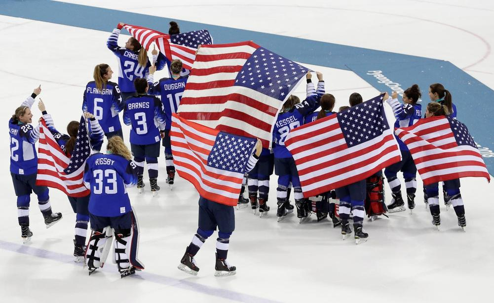 U.S. women's hockey team defeats Canada to win gold!