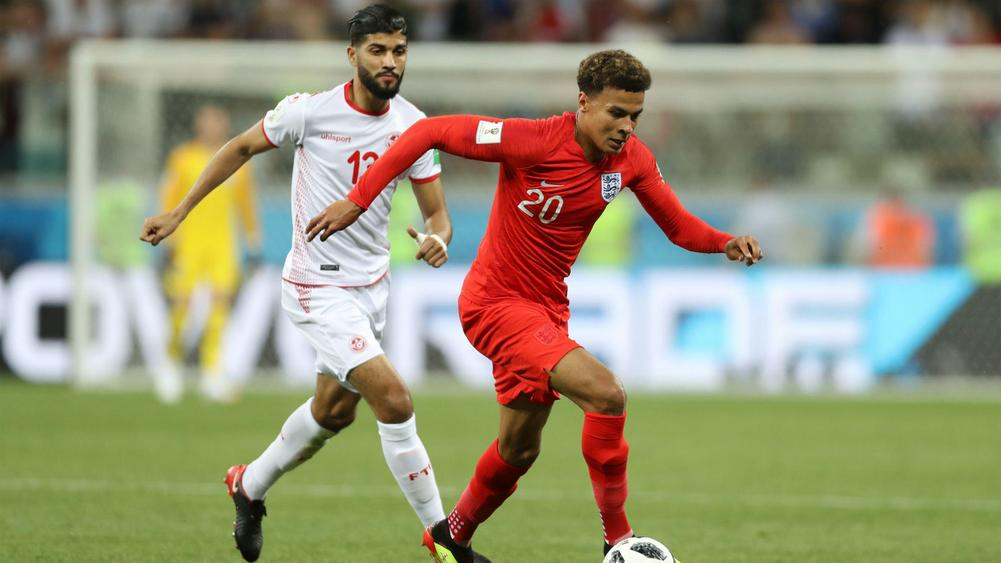 Image result for dele alli against tunisia