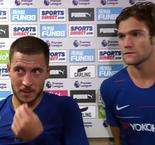 Newcastle Vs Chelsea- Eden Hazard & Marcus Alonso reaction