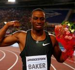 Baker dominates Coleman to win 100m in Rome