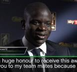 'A huge honour' to win footballer of the year - Kante