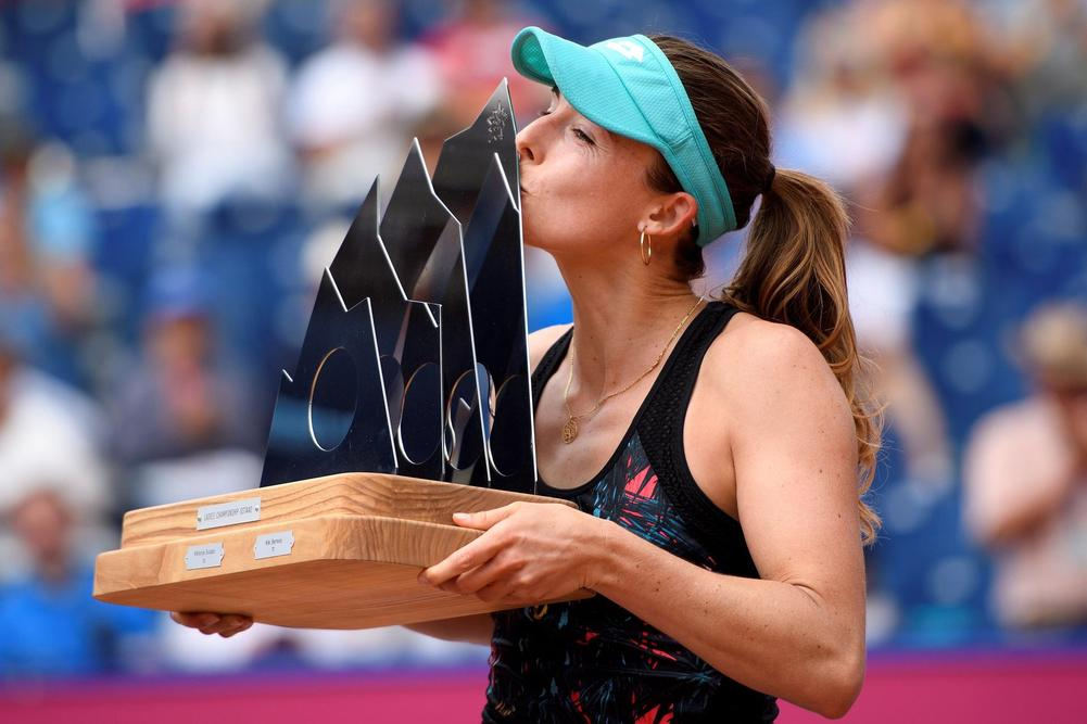 Alize Cornet defeats Mandy Minella to win Swiss Open in Gstaad