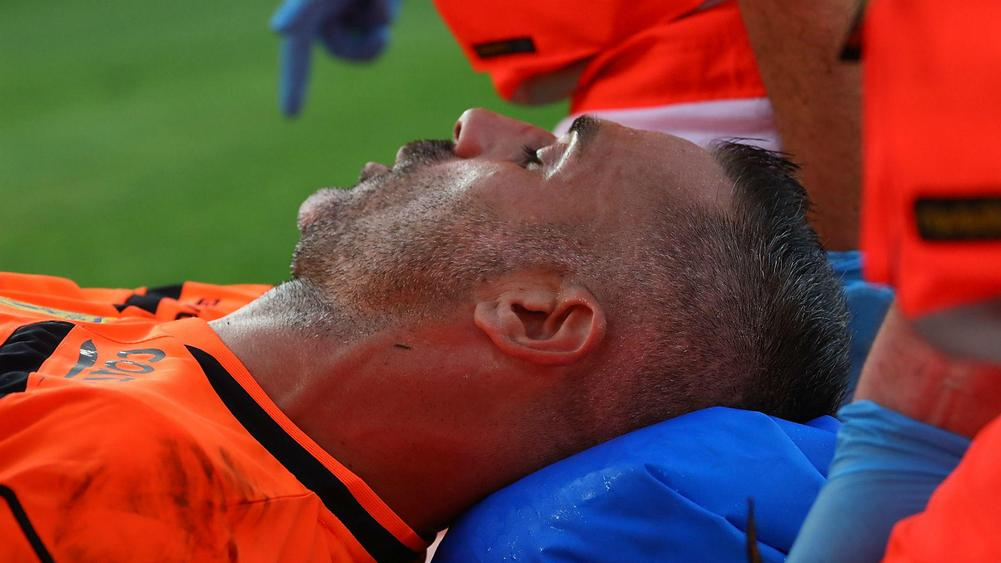 Chievo goalkeeper suffered broken nose in collision with Ronaldo