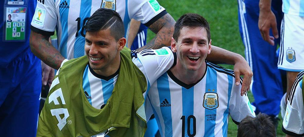 Sergio Aguero and Lionel Messi