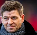 Steven Gerrard parades in front of Rangers fans at Ibrox