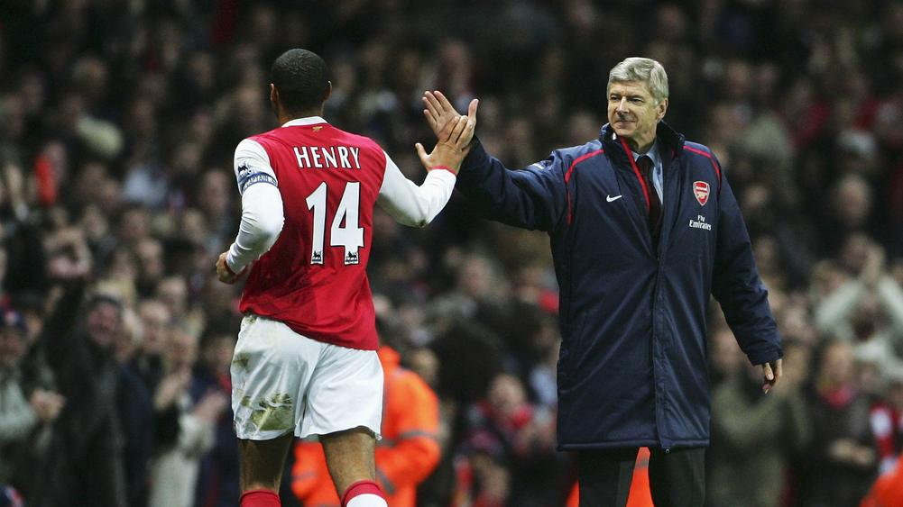 Thierry Henry and Arsene Wenger - cropped
