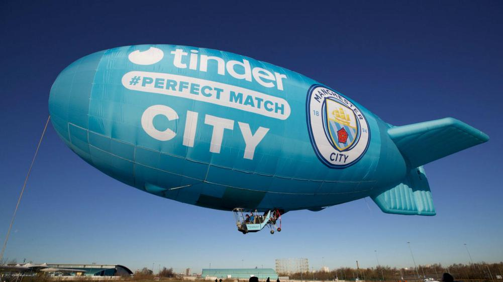 Tinder inks first sports partnership with Manchester City