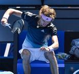 Alexander Zverev loses his temper and takes revenge from racquet