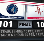 GAME RECAP: Rockets 104-Timberwolves 101