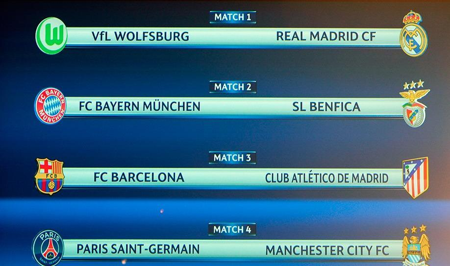 Holders Barcelona face Atletico in Champions League quarter-final draw
