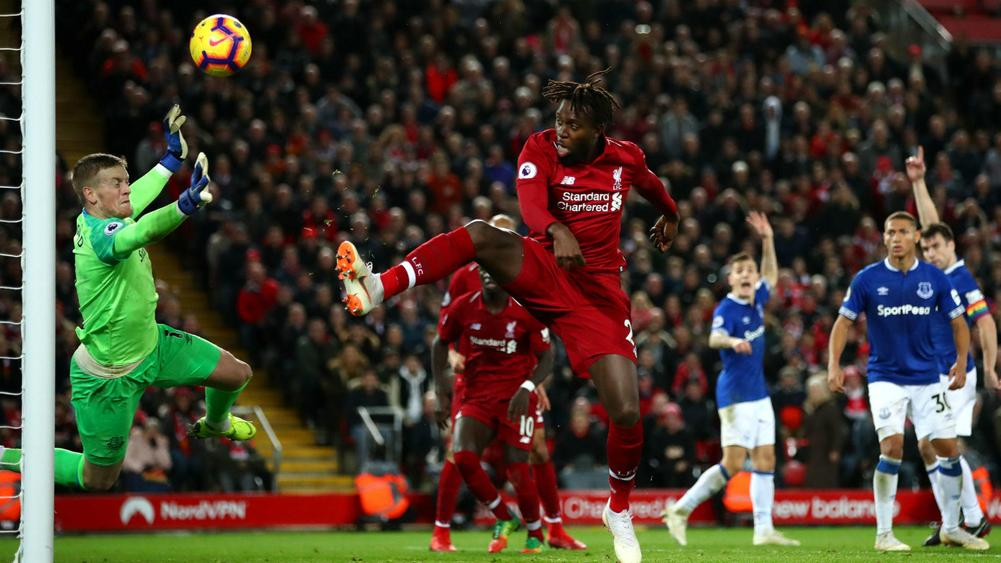 Image result for liverpool everton origi