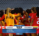 World Cup - Women U17: Canada 3 Colombia 0