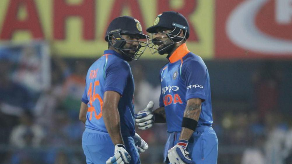 Kohli, Rohit hit tons to flatten Windies