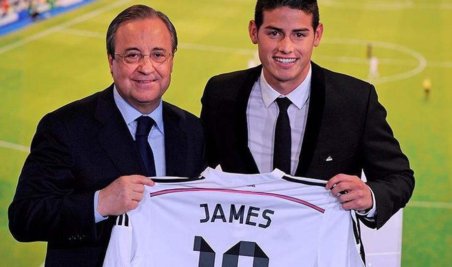 5. James Rodriguez (80 million euros)