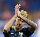 Neymar hobbles out of Brazil World Cup training
