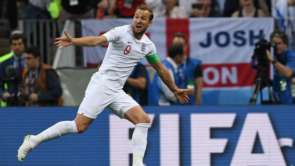 Harry Kane England v Croatia Semi Final FIFA World Cup Russia