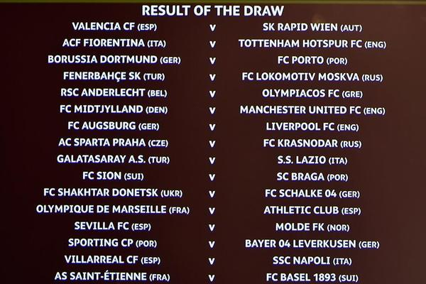 Europa League Last-32 Draw