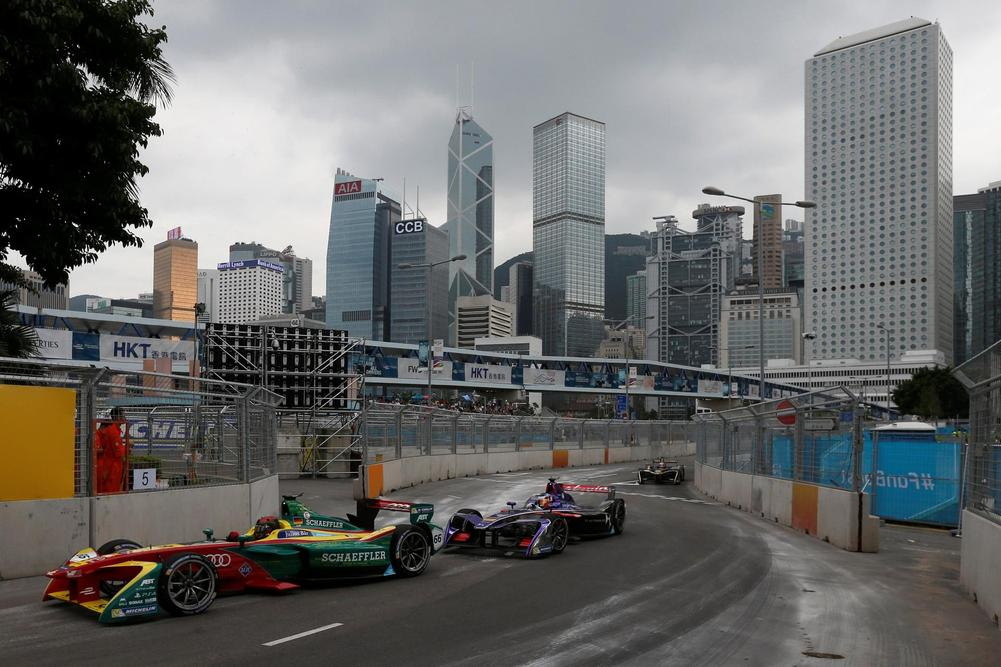 Sam Bird wins frantic Formula E season-opener in Hong Kong