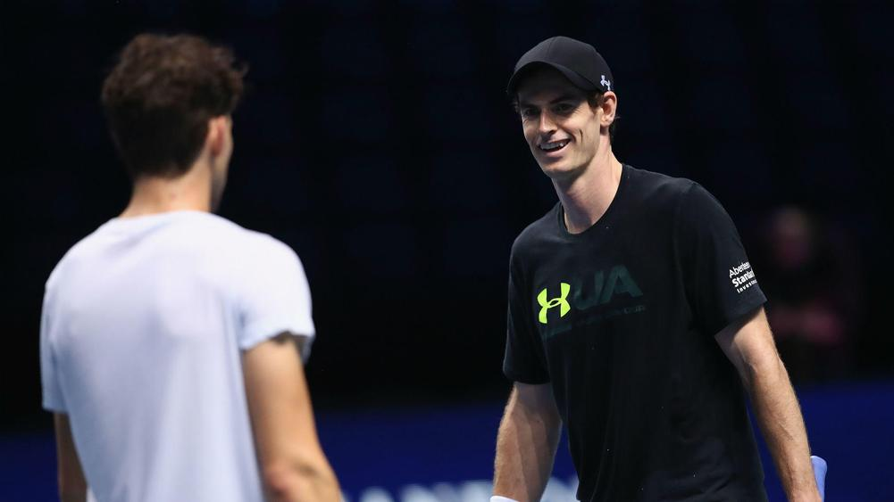 Dominic Thiem Andy Murray - cropped