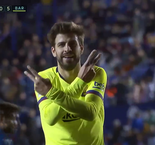 Levante 0-5 Barcelona: Pique Puts In Barcelona's Fifth Just Before The Final Whistle