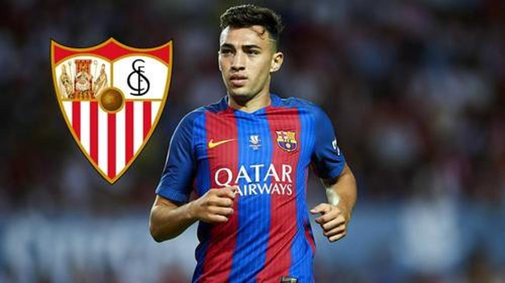 Barcelona forward Munir El Haddadi joins Sevilla