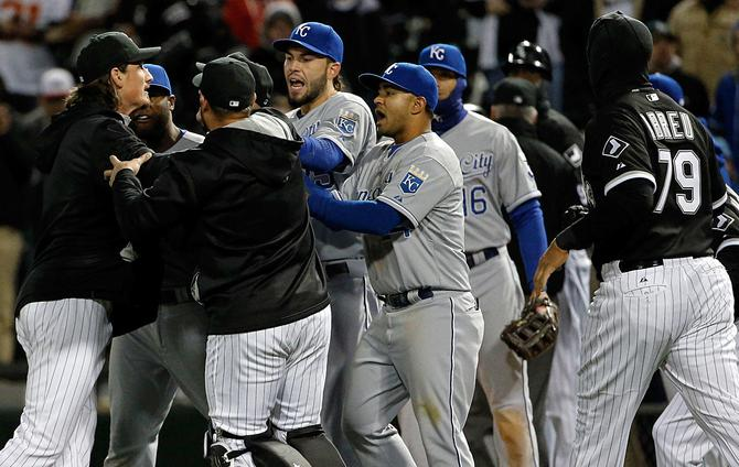 MLB hits six with suspensions after brawl