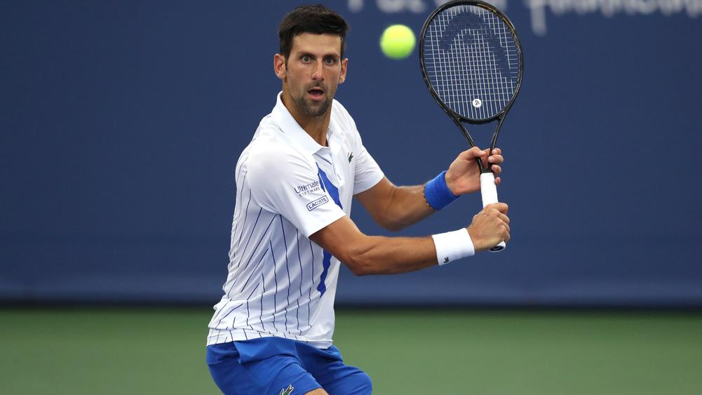 Us Open 2020 Djokovic Eases Past Dzumhur In First Round