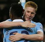 Manchester City 5 Crystal Palace 1: De Bruyne stars but Zabaleta injured