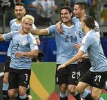Uruguay runs riot against 10-man Ecuador