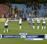 English League Cup: Scunthorpe United 0 Derby Country 1