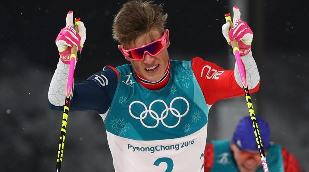 Klaebo wins cross-country gold in Olympics debut