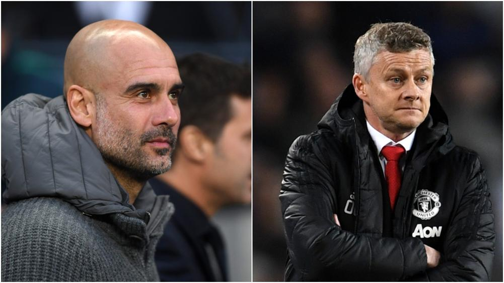 Pep Guardiola and Ole Gunnar Solskjaer