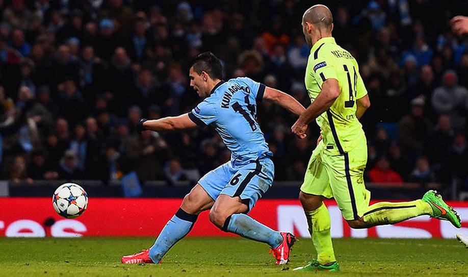 Manchester City 1-2 Barcelona: Suarez double leaves City on the brink