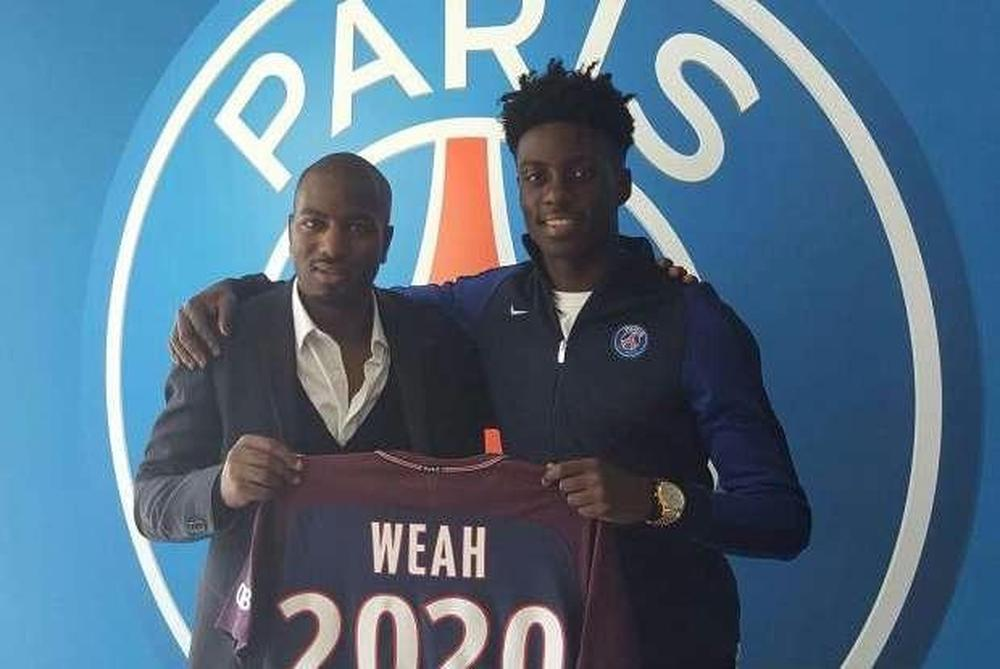 George Weah's son signs professional contract with PSG