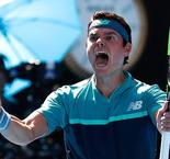 Raonic into Open last eight as Zverev self-destructs
