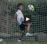 Ronaldo - senior and junior - show off their skills