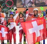 Holdener guides Swiss to Olympic team gold