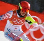 Winter Olympics 2018: Shiffrin misses out on medal in slalom