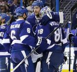 Lightning survive late Penguins fightback to tie series
