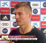 Toni Kroos Interview After 2-0 Win Over Celta Vigo