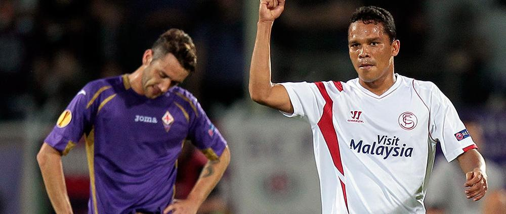 Fiorentina 0-2 Sevilla (agg 0-5): Bacca and Carrico complete emphatic win for holders