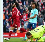 Salah Reaches 40 Goals In Liverpool's Comfortable 3-0 Win Over Bournemouth
