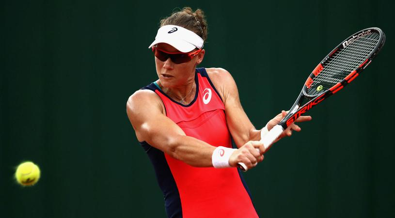 Sam Stosur in action