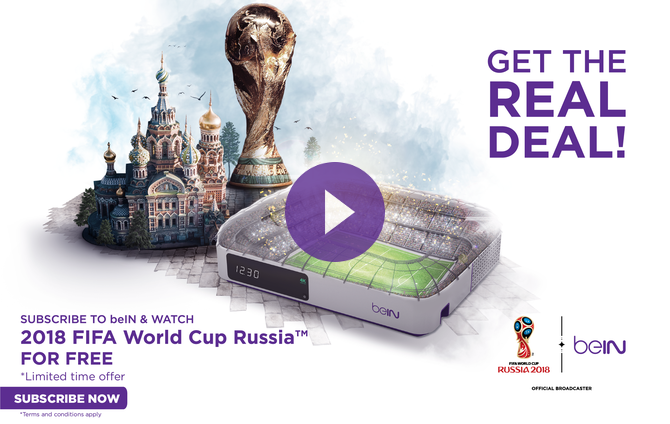 Watch the 2018 FIFA World Cup Russia™ exclusively with beIN