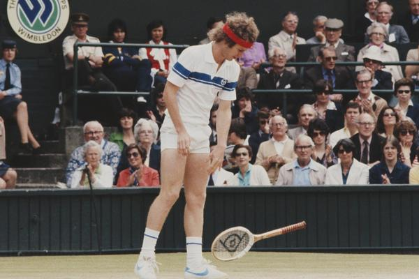 John McEnroe of the United States drops his raquet during the Men's Singles Final match against Bjorn Borg at the Wimbledon Lawn Tennis Championship on 4 July 1981 at the All England Lawn Tennis and Croquet Club in Wimbledon in London, England - beIN SPOR
