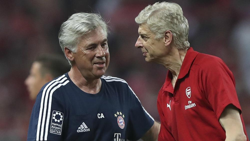 Wenger speaks on Ancelotti replacing him as Arsenal manager
