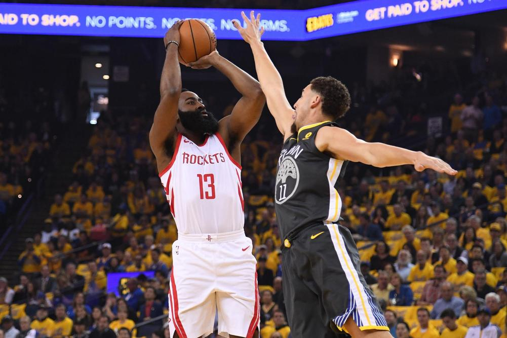 Rockets withstand Warriors to level NBA playoff series
