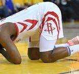 """Harden: """"I Can Barely See"""" After Game 2 Eye Injury"""